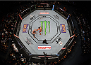 MEXICO CITY, MEXICO - JUNE 13:   An overhead view of the Octagon as Fabricio Werdum of Brazil punches Cain Velasquez of the United States in their UFC heavyweight championship bout during the UFC 188 event inside the Arena Ciudad de Mexico on June 13, 2015 in Mexico City, Mexico. (Photo by Josh Hedges/Zuffa LLC/Zuffa LLC via Getty Images)