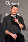 BERLIN, GERMANY - JUNE 19:   Forrest Griffin interacts with fans during a Q&A session before the UFC Berlin weigh-in at the O2 World on June 19, 2015 in Berlin, Germany. (Photo by Josh Hedges/Zuffa LLC/Zuffa LLC via Getty Images)