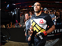 CHICAGO, IL - JULY 25:   Edson Barboza of Brazil enters the arena before his lightweight bout against Paul Felder during the UFC event at the United Center on July 25, 2015 in Chicago, Illinois. (Photo by Jeff Bottari/Zuffa LLC/Zuffa LLC via Getty Images)