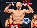 NASHVILLE, TN - AUGUST 07:  Glover Teixeira of Brazil steps on the scale during the UFC weigh-in at Bridgestone Arena on August 7, 2015 in Nashville, Tennessee.  (Photo by Josh Hedges/Zuffa LLC/Zuffa LLC via Getty Images)