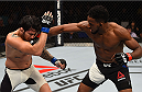SASKATOON, SK - AUGUST 23:  (R-L) Neil Magny of the United States punches Erick Silva of Brazil in their welterweight bout during the UFC event at the SaskTel Centre on August 23, 2015 in Saskatoon, Saskatchewan, Canada. (Photo by Jeff Bottari/Zuffa LLC/Zuffa LLC via Getty Images)