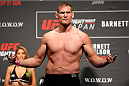 SAITAMA, JAPAN - SEPTEMBER 25: Josh Barnett during the UFC weigh-in at the Saitama Super Arena on September 25, 2015 in Saitama, Japan. (Photo by Mitch Viquez/Zuffa LLC/Zuffa LLC via Getty Images)