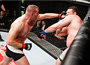 SAITAMA, JAPAN - SEPTEMBER 27:  Josh Barnett of the United States of America punches Roy Nelson of the United States of America in their heavyweight bout during the UFC event at the Saitama Super Arena on September 27, 2015 in Saitama, Japan. (Photo by Mitch Viquez/Zuffa LLC/Zuffa LLC via Getty Images)