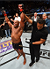 HOUSTON, TX - OCTOBER 03:  Daniel Cormier celebrates his victory over Alexander Gustafsson in their UFC light heavyweight championship bout during the UFC 192 event at the Toyota Center on October 3, 2015 in Houston, Texas. (Photo by Josh Hedges/Zuffa LLC/Zuffa LLC via Getty Images)