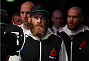 DUBLIN, IRELAND - OCTOBER 24:  Garreth McLellan prepares to enter the Octagon before facing Bubba Bush in their middleweight fight during the UFC event at 3Arena on October 24, 2015 in Dublin, Ireland. (Photo by Josh Hedges/Zuffa LLC/Zuffa LLC via Getty Images)