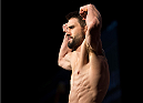 LAS VEGAS, NEVADA - JANUARY 01:  Carlos Condit steps on the scale during the UFC 195 weigh-ins at the MGM Grand Hotel/Casino on January 1, 2016 in Las Vegas Nevada. (Photo by Brandon Magnus/Zuffa LLC/Zuffa LLC via Getty Images)