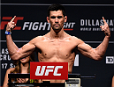 BOSTON, MA - JANUARY 16:  Dominick Cruz weighs in during the UFC weigh-in at the Wang Theatre on January 16, 2016 in Boston, Massachusetts. (Photo by Jeff Bottari/Zuffa LLC/Zuffa LLC via Getty Images)