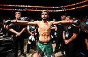 SALT LAKE CITY, UT - AUGUST 06:  Yair Rodriguez of Mexico prepares to enter the Octagon before facing Alex Caceres in their featherweight bout during the UFC Fight Night event at Vivint Smart Home Arena on August 6, 2016 in Salt Lake City, Utah. (Photo by Jeff Bottari/Zuffa LLC/Zuffa LLC via Getty Images)