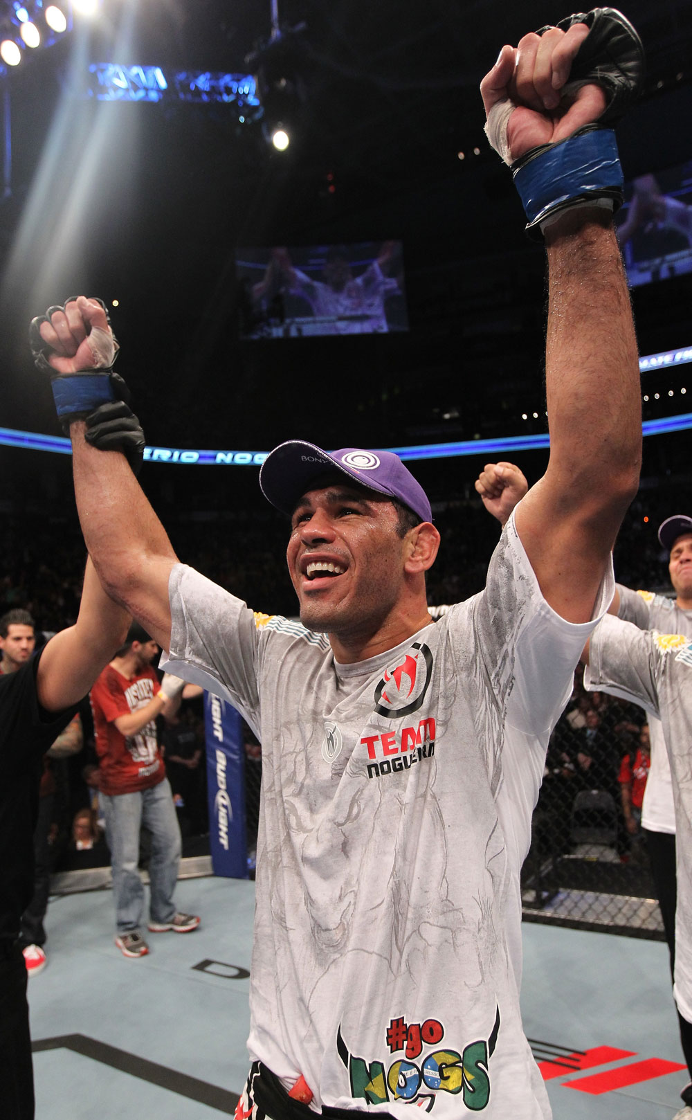 TORONTO, ON - DECEMBER 10:  Antonio Rogerio Nogueira reacts after defeating Tito Ortiz during the UFC 140 event at Air Canada Centre on December 10, 2011 in Toronto, Ontario, Canada.  (Photo by Nick Laham/Zuffa LLC/Zuffa LLC via Getty Images)