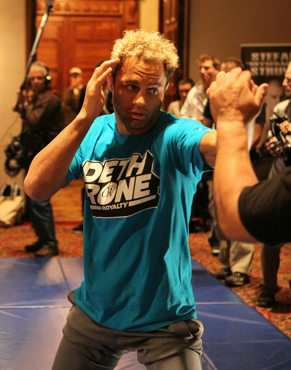 Josh Koscheck trains at the UFC 124 open workouts at the Marriott Chateau Champlain in on December 8, 2010 in Montreal, Quebec, Canada.