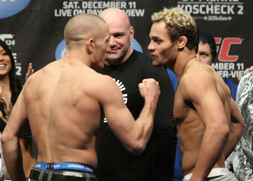 UFC 124 Weigh-in: St-Pierre vs. Koscheck