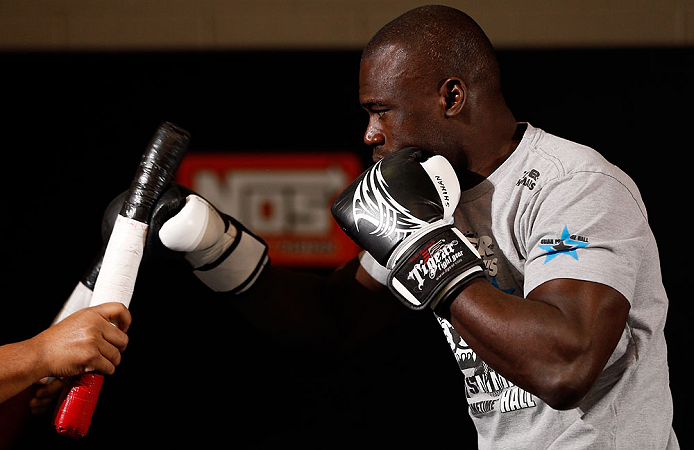 LAS VEGAS, NV - APRIL 11: Uriah Hall holds an open workout session for media at the UFC Training Center on April 11, 2013 in Las Vegas, Nevada. (Photo by Josh Hedges/Zuffa LLC/Zuffa LLC via Getty Images)